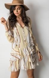 Sukienka ONE z długim rękawem w stylu boho