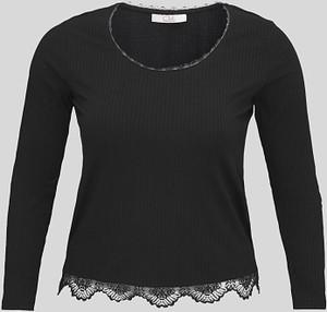 Czarny t-shirt CLOCKHOUSE z okrągłym dekoltem
