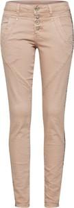 Różowe jeansy Cream z jeansu w młodzieżowym stylu