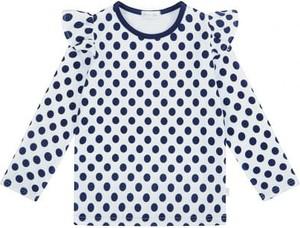 Bluzka dziecięca Ewa Collection z bawełny w groszki