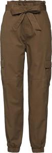 Zielone spodnie Only w militarnym stylu z bawełny