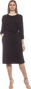 Czarna sukienka Peserico midi