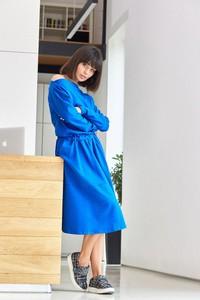Sukienka Be z bawełny z długim rękawem midi