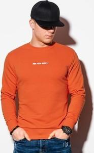 Pomarańczowa bluza Ombre w młodzieżowym stylu z bawełny