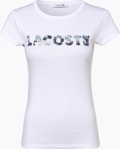T-shirt Lacoste z okrągłym dekoltem z krótkim rękawem
