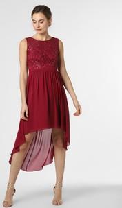 Czerwona sukienka Marie Lund bez rękawów z szyfonu mini