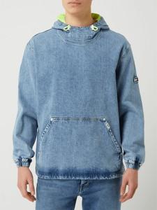 Niebieska kurtka Tommy Jeans krótka z bawełny