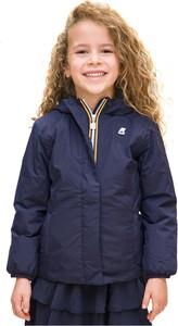 Granatowa kurtka dziecięca K-Way z tkaniny