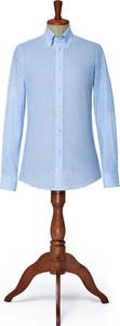 Koszula LANCERTO z klasycznym kołnierzykiem z długim rękawem z lnu