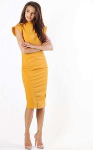 Żółta sukienka Nommo bez rękawów