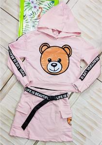 Różowy komplet dziecięcy Petit Boutique - Moda Dziecięca