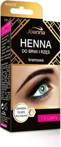 Joanna, henna do brwi i rzęs kremowa, nr 1.0, czarna, 15 ml