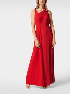 Sukienka Ralph Lauren z dekoltem w kształcie litery v maxi bez rękawów