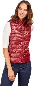 Czerwona kamizelka Snowie Collection w stylu casual krótka