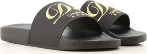 Czarne buty letnie męskie Dolce & Gabbana w stylu casual