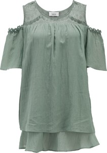 Bluzka Heine z okrągłym dekoltem z krótkim rękawem