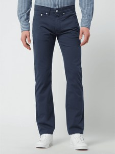 Niebieskie spodnie Pierre Cardin w stylu casual z bawełny