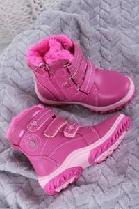 Buty dziecięce zimowe Casu na rzepy