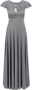 Sukienka POTIS & VERSO wyszczuplająca z krótkim rękawem maxi
