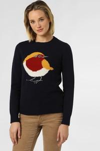 Granatowy sweter Marie Lund w stylu casual z wełny