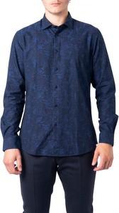 Niebieska koszula Hydra Clothing z bawełny z długim rękawem