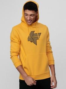 Żółta bluza 4F w sportowym stylu
