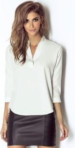 Bluzka Ivon z dekoltem w kształcie litery v z długim rękawem
