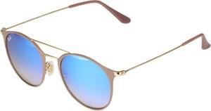 Błękitne okulary damskie ray-ban