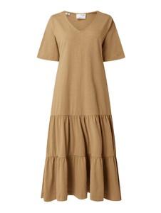 Sukienka Selected Femme z krótkim rękawem z dekoltem w kształcie litery v