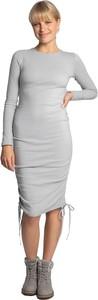 Sukienka Lalupa w stylu casual midi z długim rękawem