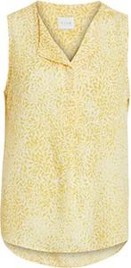 Żółta bluzka Vila bez rękawów