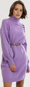 Fioletowa bluzka born2be w stylu casual