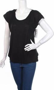 Czarna bluzka Marika z krótkim rękawem