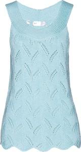 Niebieski top bonprix bpc selection
