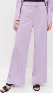 Fioletowe spodnie Reserved w stylu retro