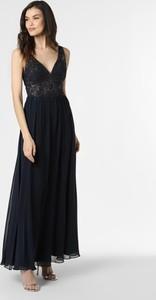 Niebieska sukienka Laona z szyfonu na ramiączkach