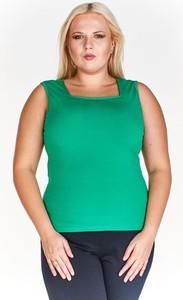 Zielona bluzka Fokus z dzianiny w stylu casual