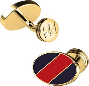 Spinki do mankietów PAUL HEWITT Cufflinks Gold Navy Blue-Red stripes