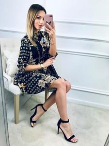 Sukienka Kenza.pl w stylu casual z długim rękawem midi