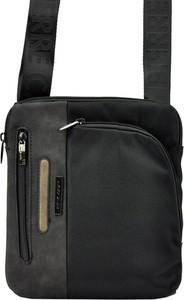 Czarna torba Pierre Cardin ze skóry ekologicznej