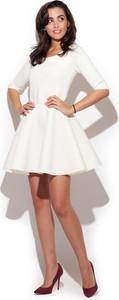 Sukienka Katrus z krótkim rękawem z okrągłym dekoltem