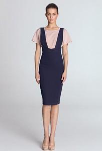 Fioletowa sukienka Merg ołówkowa