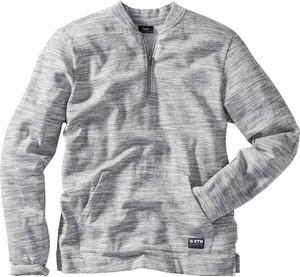 Szara bluza bonprix bpc bonprix collection bez wzorów