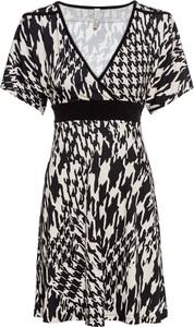 Sukienka bonprix BODYFLIRT boutique z dekoltem w kształcie litery v w stylu etno midi