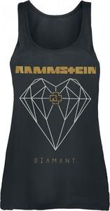 Top Rammstein z nadrukiem z okrągłym dekoltem