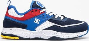 Buty sportowe DC Shoes sznurowane ze skóry