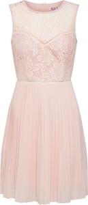 Różowa sukienka WAL G. bez rękawów mini