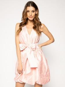 Różowa sukienka Pinko bez rękawów