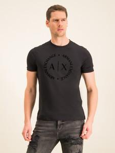 Czarny t-shirt Armani Exchange