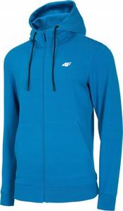 Niebieska bluza 4F z dzianiny w sportowym stylu